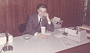 Curt working at WLS Feb 1963
