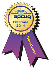 APCUG 2011 Newsletter Contest 1st Place Award
